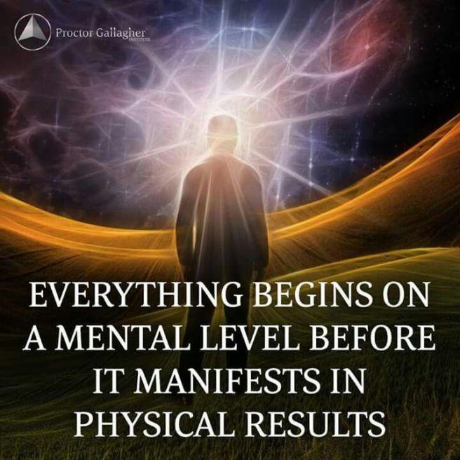 everything begins mental